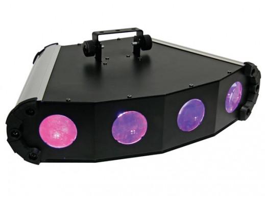 Efekt świetlny Quad Spinner - Led Messenger. 4 głowicowy efekt z diodami RGB = biała VDPL304LF