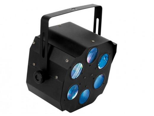 Efekt świetlny Kombo 6 szkieł 3 x 3W R+G+B LED