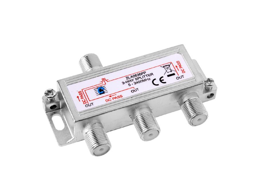 Rozgałęźnik F-sat 3 wyjścia 5-2450 MHz DC