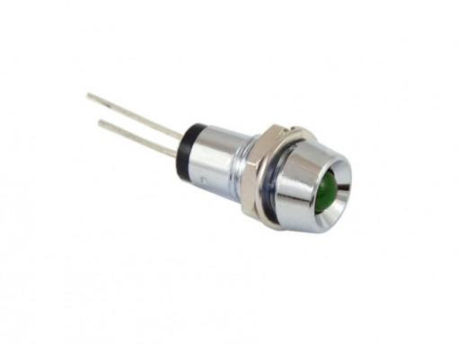 Kontrolka LED L-917 zielona metal