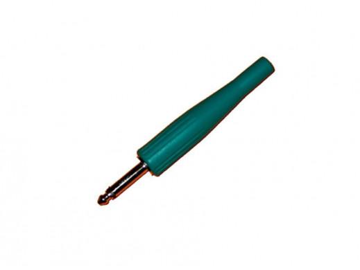 Wtyk jack 6,3mm mono oprawa gumowa zielony