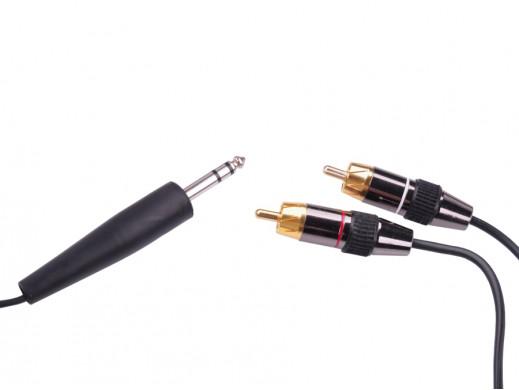 Przewód jack 6.3mm-2 cinch 1.8m stereo