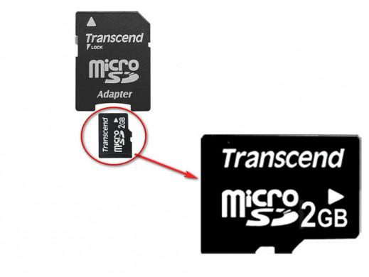 Karta pamięci 2GB microSD Transcend