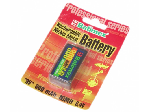 Akumulator R-9V 300mAh BATIMEX