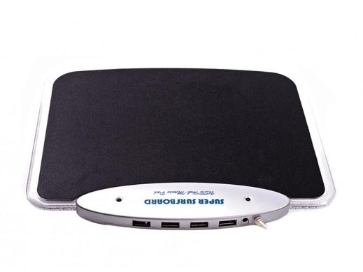 Podkładka pod mysz świecąca + HUB 4 USB
