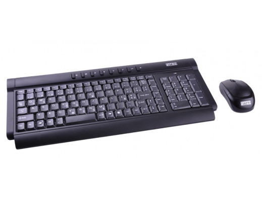 Zestaw klawiatura i myszka bezprzewodowe optyczne INTEX model Sonic