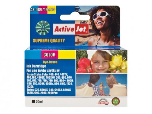 Tusz Epson S020089/191 T014/052 AE-089 36ml color ACJ Pasuje do drukarek:: Stylus Color 400/440/440TV/460/480/480SX/480SXU/580/
