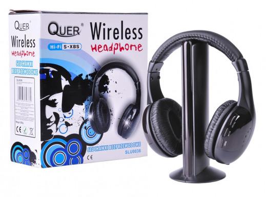 Słuchawki nauszne bezprzewodowe 5 w 1 Quer radio AM/FM