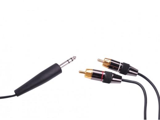 Kabel JACK 6.3 stereo - 2RCA 3m