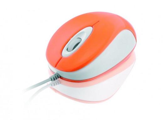 Mysz optyczna USB orange...