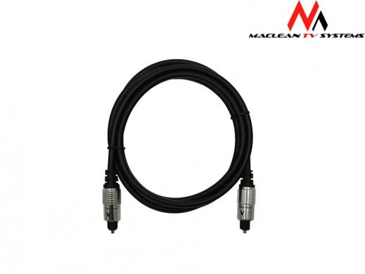 Przewód, kabel optyczny 2,5m Maclean MC-549 Toslink-Toslink polybag