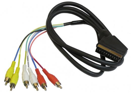 Przewód, kabel euro-6 cinch 1,2-1.5m