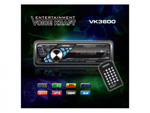 Radioodtwarzacz VK3600 MP3/USB/MMC/SD/AUX niebieski VoiceKraft
