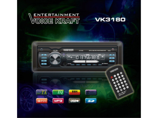 Radioodtwarzacz VK3180 MP3/USB/MMC/SD/AUX niebieski