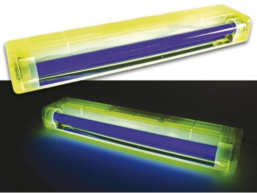 Lampa UV Neon 15W 50cm z oprawką żółtą HQPOWER