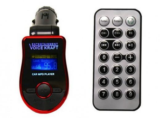 Transmiter FM T661 2G czytnik SD USB z pilot czerw