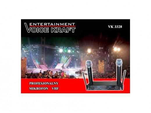 Zestaw mikrofonów bezprzewodowych VK3368 VoiceKraft