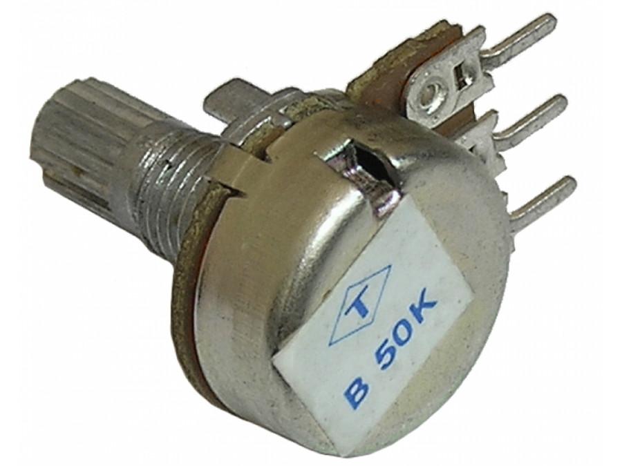 Potencjometr ośka 1*50K-B 16mm liniowy