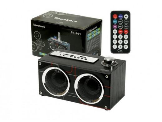 Głośniki z odtwarzaczem MP3 z USB/SD + pilot SK-901