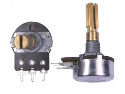 Potencjometr ośka 200K B liniowy L-16mm