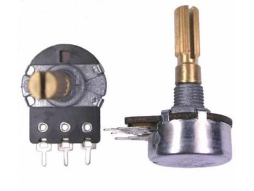 Potencjometr ośka 1*20K-A 16mm logarytmiczny