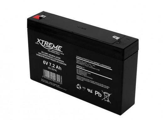 Akumulator żelowy 6V 7,2Ah Xtreme