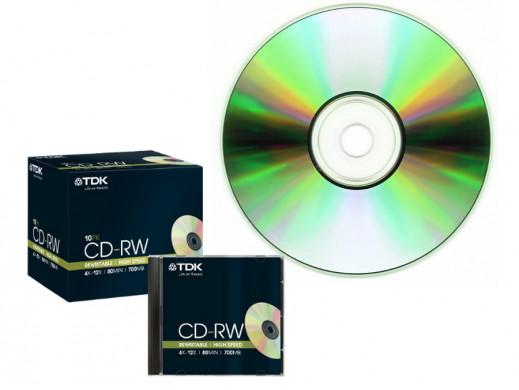Płyta CD-RW 700MB TDK w pudełku