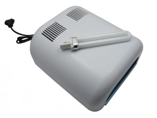 Lampa UV + duży zestaw akcesorii