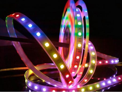 Sznur diodowy 10cm RGB 3 LED wodoodporny zalewany