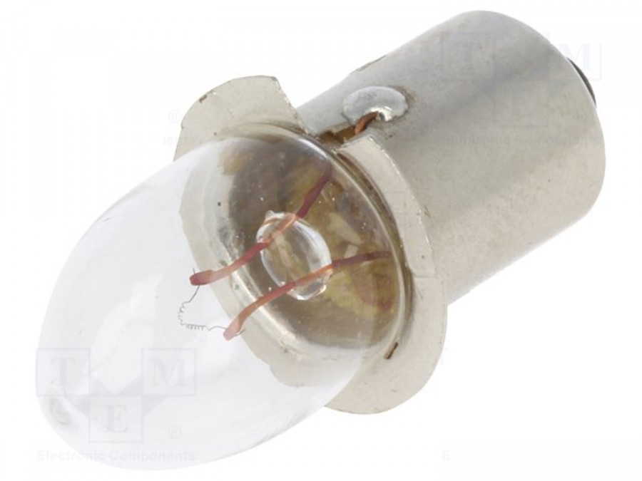 Żarówka kryptonowa 2,4V 0,7A do latarek bez gwintu