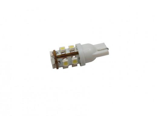 Dioda LED samochodowa T10 10mm 11SMD biała 12V