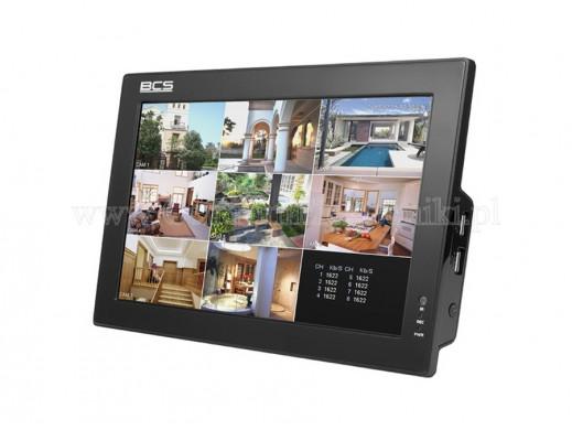 Rejestrator 4-kanałowy BCS-CVR0404-10 z monitorem 10 cali