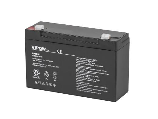Akumulator żelowy 6V 12Ah...