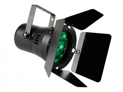 Reflektor PAR-36 czarny 12x1W RGB LED DMX