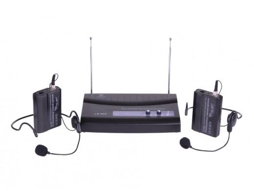 Mikrofon nagłowny LS-902 dwukanałowy