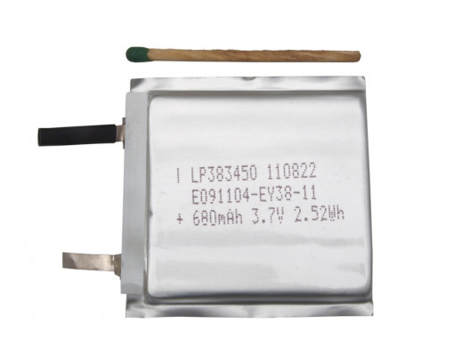 Akumulator LP383450 680mAh 3,7V Li-Polymer 3.8x34x50mm