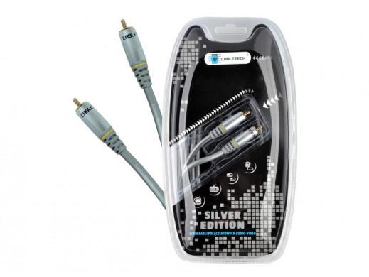 Przewód, kabel 1*1 cinch 1.8m Silver Edition Cabletech