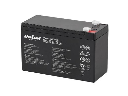 Akumulator żelowy 12V 7.5Ah MaxPower