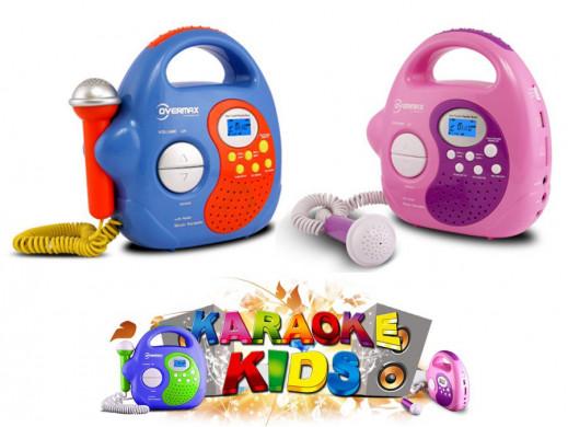 Zestaw karaoke z radiem MP3/USB/SD OV-KR-02 Overmax różowy