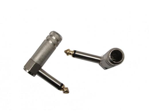 Wtyk 6,3mm jack mono JW644  kątowy metal