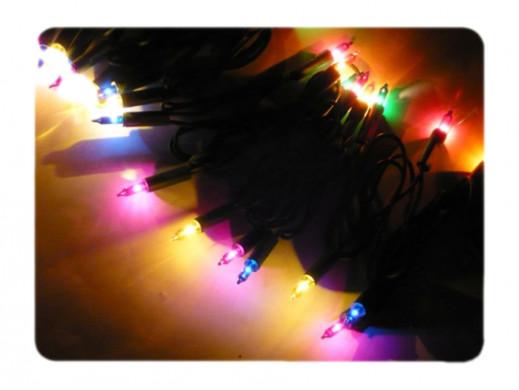 Lampki choinkowe 100 LED 7W wielokolorowe z gniazdem