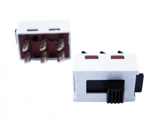 Przełącznik suwakowy 2 pozycje 22,84mm*13,8mm 6 pin 10A 250V T22208E