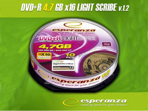 Płyta DVD +R 4,7GB Light Scribe bez opakowania Esperanza
