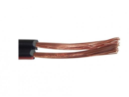 Kabel głośnikowy 2*0,75mm czarno TLY