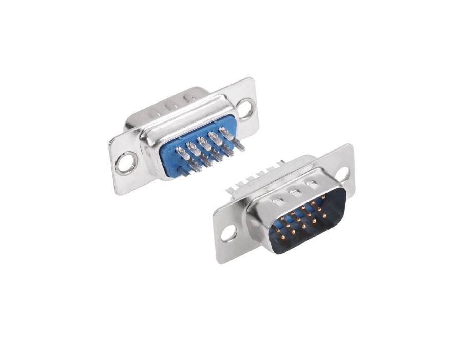 Wtyk komputerowy DB15 na kabel męski lutowany