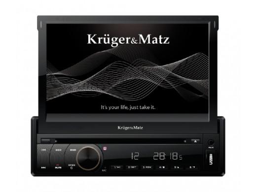 Radioodtwarzacz samochodowy 1DIN DVD/MP4/DIVX/VCD/CD/MP3/JPEG/USB/SD/MMC Kruger&Matz