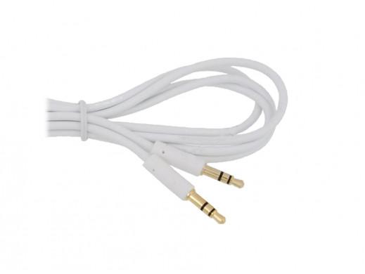 Przewód, kabel 3,5mm wtyk-wtyk 1,5m biały Vitalco