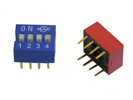 Przełącznik  DIP switch 4 tory