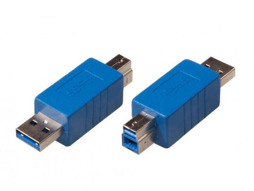 Przejściówka USB 3.0 AM - BM Maclean MCTV-615 polybag