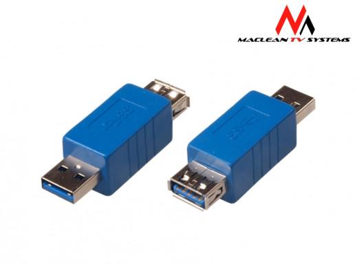 Przejściówka USB 3.0 AM - AF Maclean MCTV-620 polybag